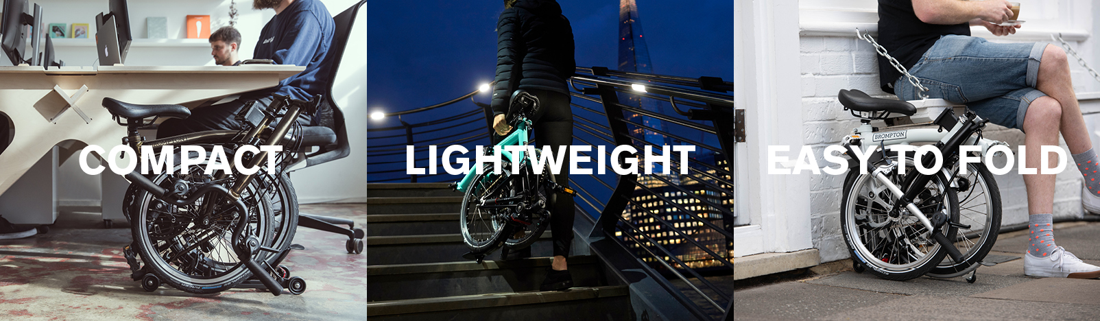 Brompton Bicycle, compact, lightweight, easy to fold